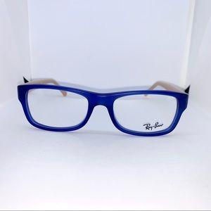 Ray-Ban Blue and Tan Eyeglasses